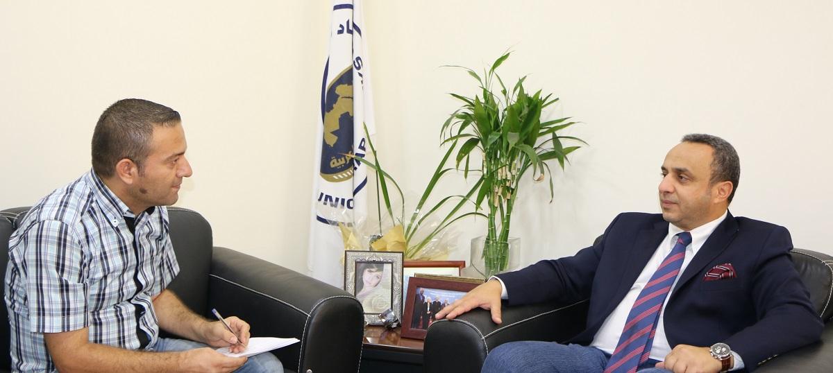 الزميل مازن مجوز يحاور وسام فتوح