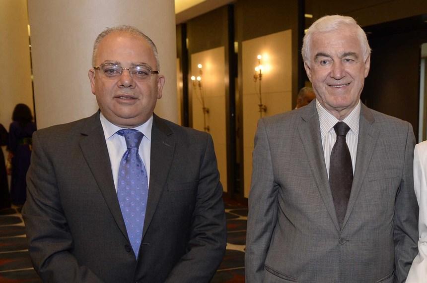 الوزير السابق بشارة مرهج وهشام طباره
