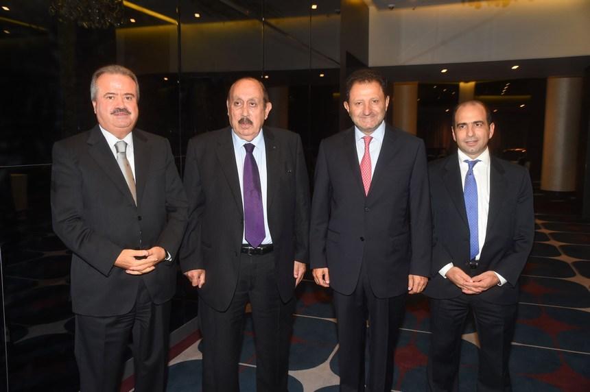 من اليسار: النائب ياسين جابر، طارق أبو سمرا، الدكتور حبيب الزغبي وأحد المدعوين