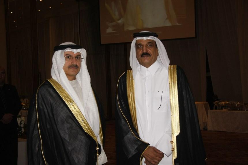 سفيرا قطر علي بن محمد المري والكويت عبد العال القناعي