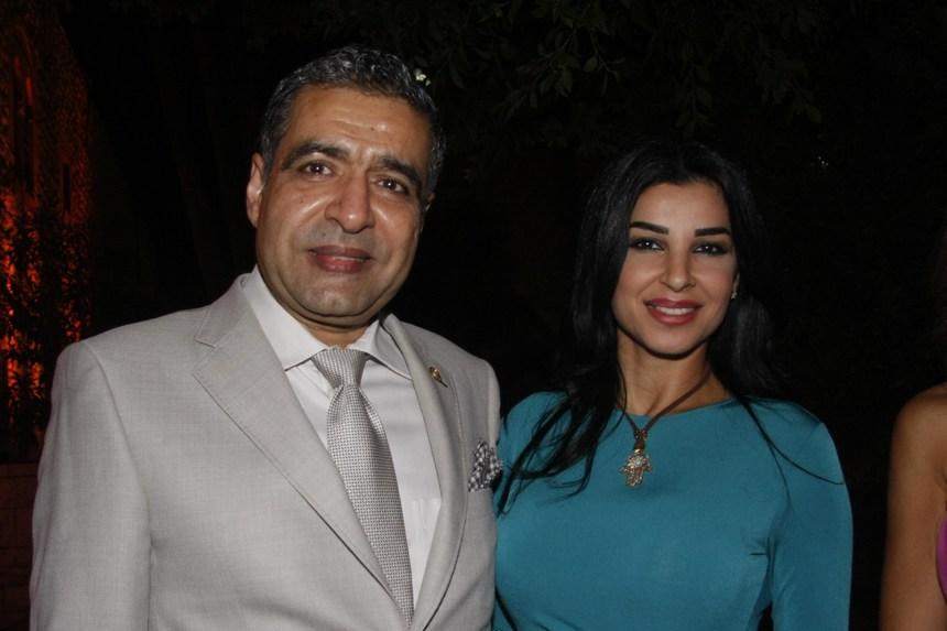 السفير حسن ضيا وعقيلته رولا