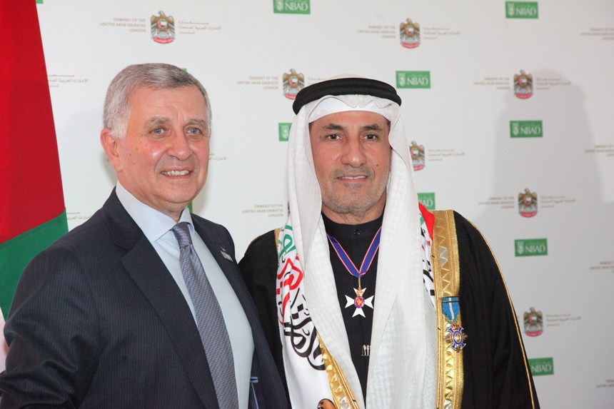 السفير عبد الرحمن المطيوعي وفريد بركات