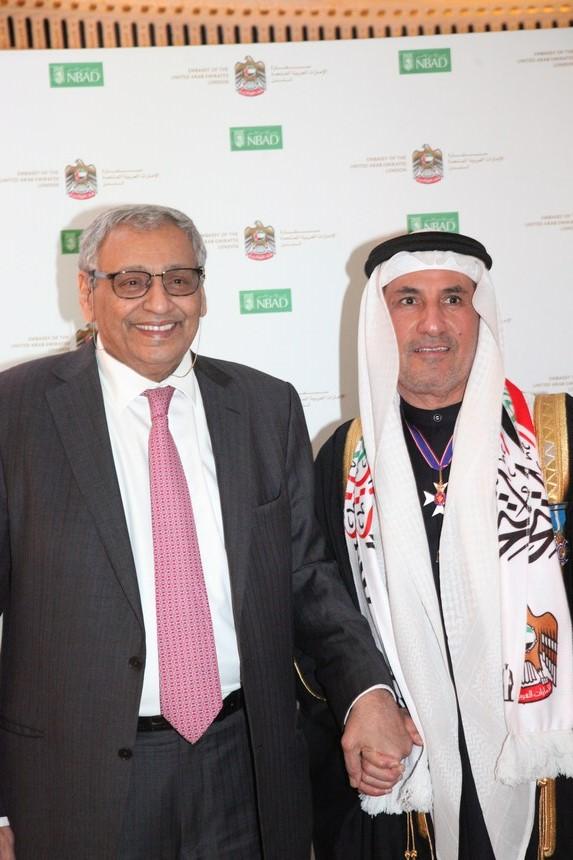 السفير المطيوعي مع السفير الكويتي خالد الدويسان