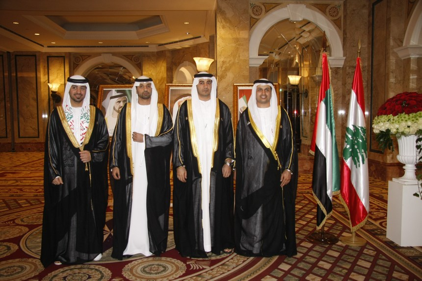 اللبنانيون يشاركون الإمارات بعيدها الوطني الـ44