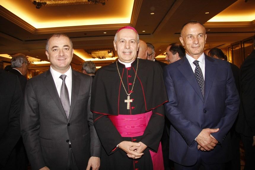 العميد المتقاعد شامل روكز، السفير البابوي غابريال كاتشيا، الوزير الياس بو صعب