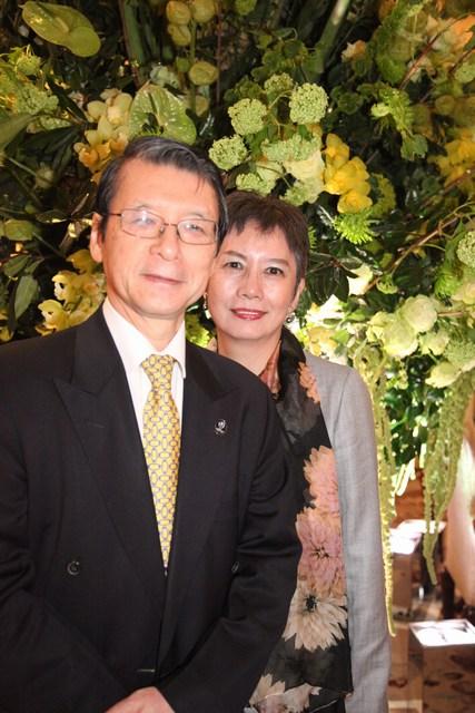 سفير اليابان كيليتشي هاياشي وقرينته