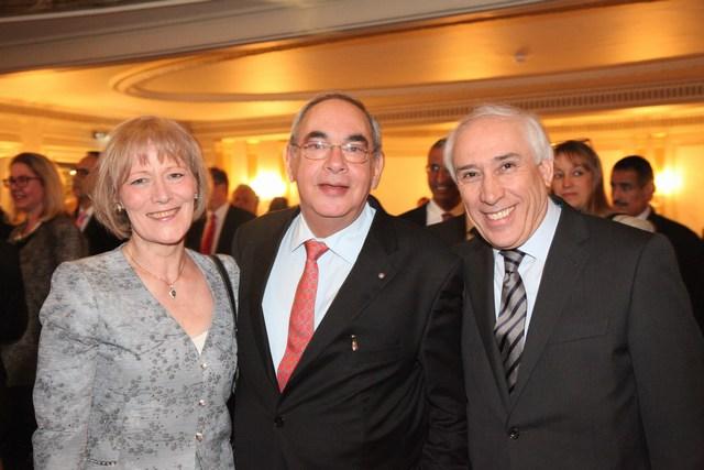 سفير الجزائر عمار أبا مع عفيف صافية وقرينته