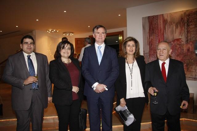 إدمون صعب، مارسيل نديم، السفير هوغو شورتر، دانيال عبيد، فيليب أبو زيد