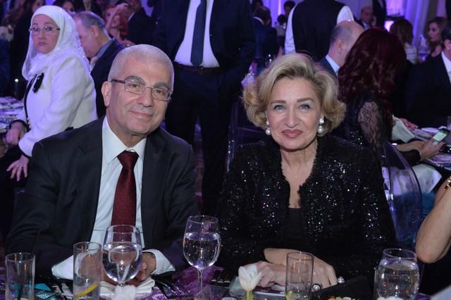 النائب ناجي غلريوس وقرينته صونيا