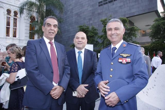 العميد خليل أبو سليمان، نبيل صالحاني، جورج بولس