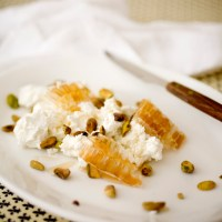 Healthy Labneh with Honeycomb and Seeded Crackers