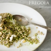 Fregola with Arugula Pesto