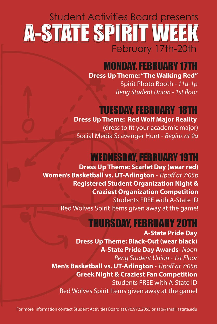 Celebrate Pack Pride With Student Activities Board During