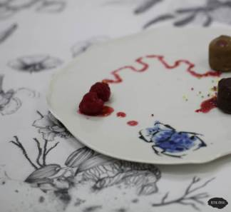 """Service de table """"Le printemps chez soi"""" - Assiette scarabée"""