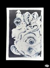 Frénésie - Plaque décors cobalt