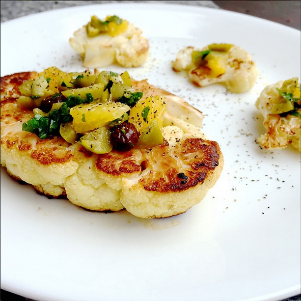 cauliflower steak pistou rouxbe