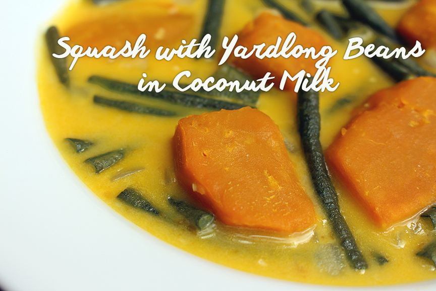 Squash and Long Beans in Coconut Milk