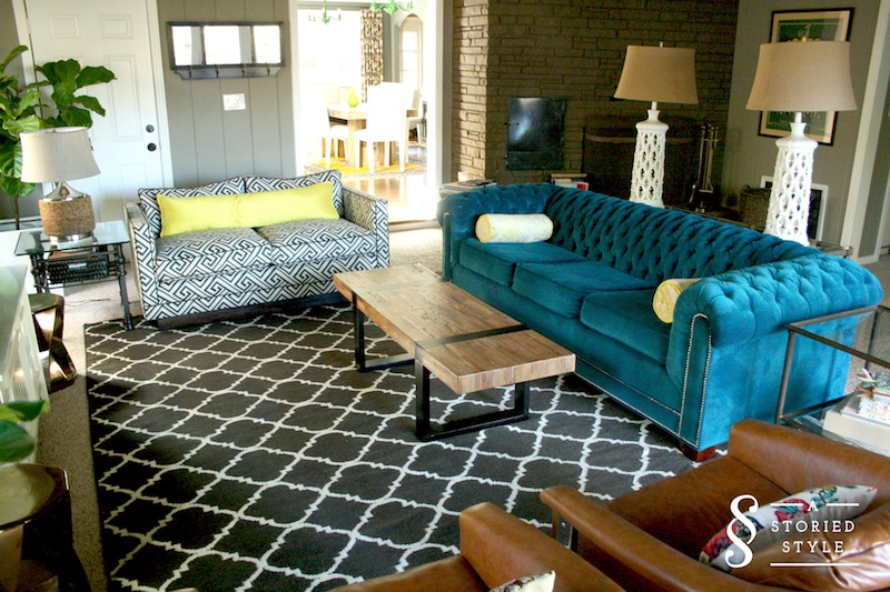Pent Living Room: Modern Color, Modern Comfort - A Storied Style