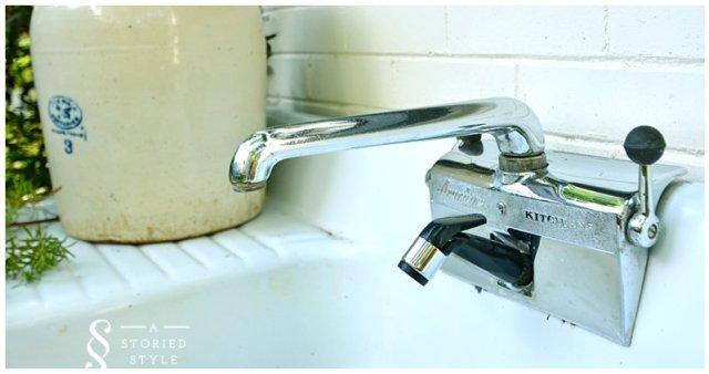 kitchen sink potting bench