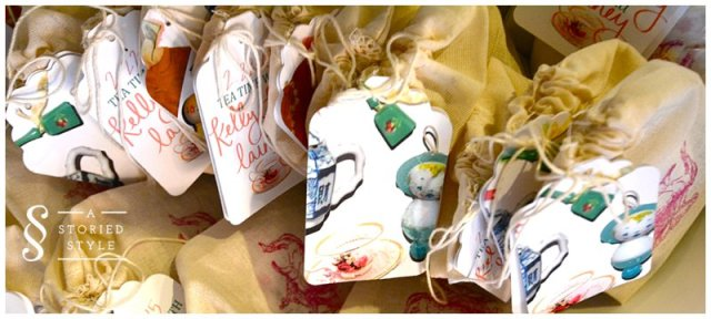 tea party favors gift tags