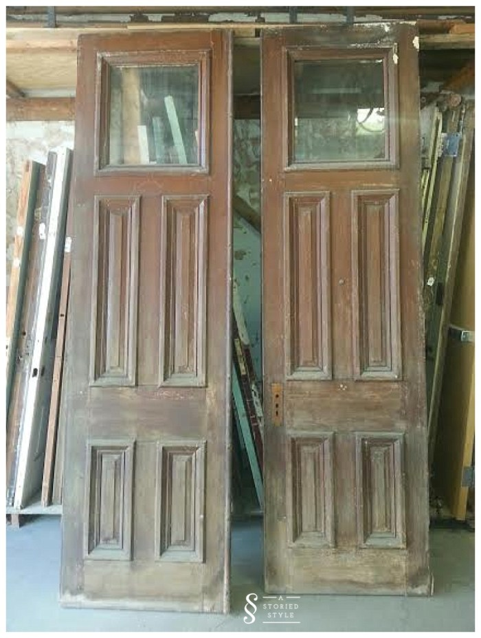 old pair church doors