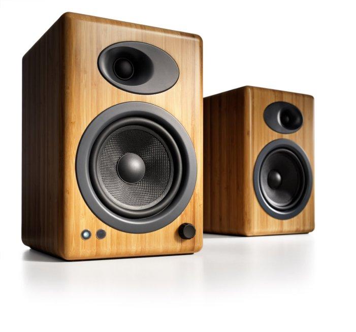 wood tone speakers