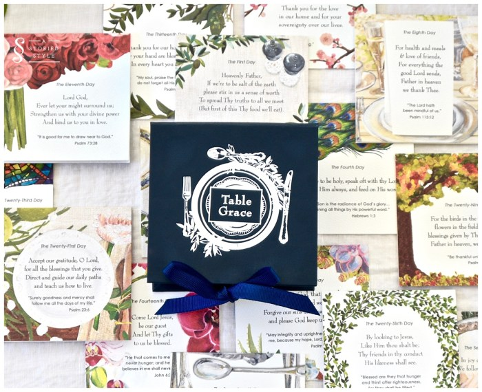 table grace cards