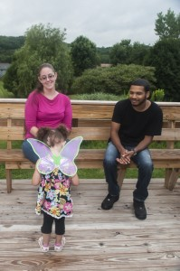 Jeniffer Rivera with mother, Meaghan Iozzo, and father, Nicky Rivera.