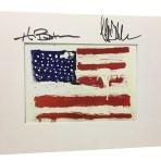 Autographed Flag Print