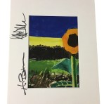 Autographed Sunflower Print