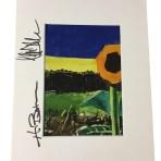Autographed Sunflower Print