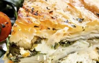 Greek chicken filo pie