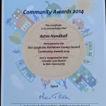 Dun Laoghaire Rathdown County Council Community Award 2014