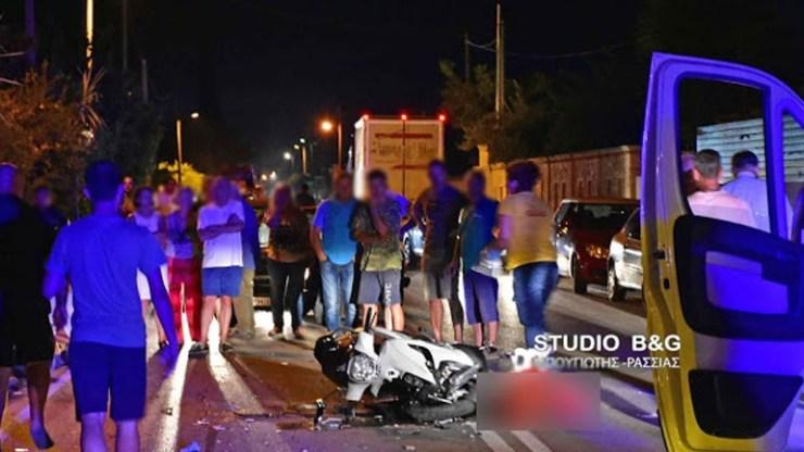Σοβαρό τροχαίο ατύχημα στα Λευκάκια Ναυπλίου με δύο τραυματίες