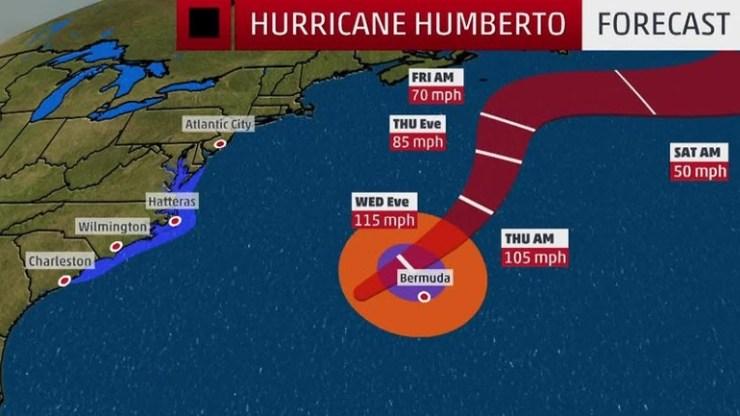 Οι Βερμούδες προετοιμάζονται για την άφιξη του κυκλώνα Ουμπέρτο