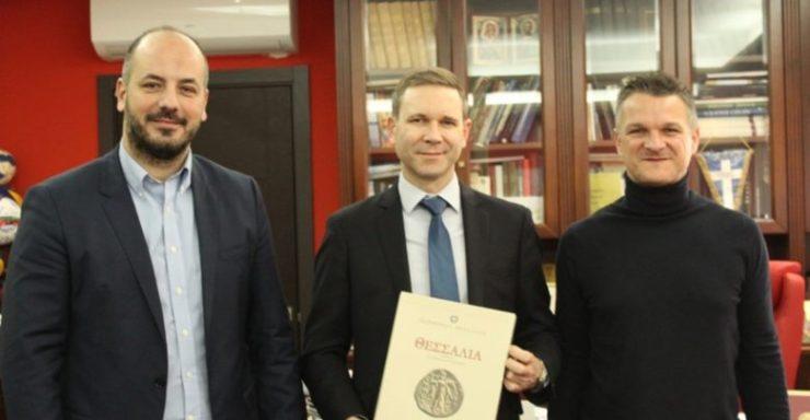 Στην Περιφέρεια Θεσσαλίας ο Γενικός Πρόξενος των ΗΠΑ στη Θεσσαλονίκη