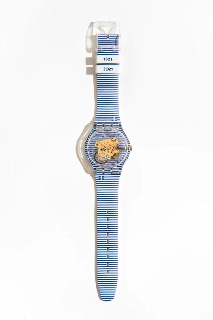 Συλλεκτικό ρολόι της Swatch για τα 200 χρόνια της Ελληνικής Επανάστασης, σχεδιασμένο από τον διάσημο art director Yorgo Tloupas