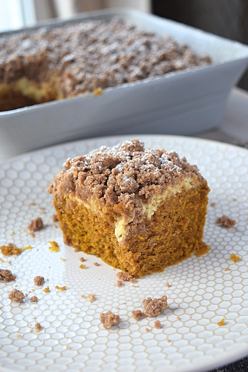 Pumpkin Coffee Cake With Cream Cheese A Stray Kitchen