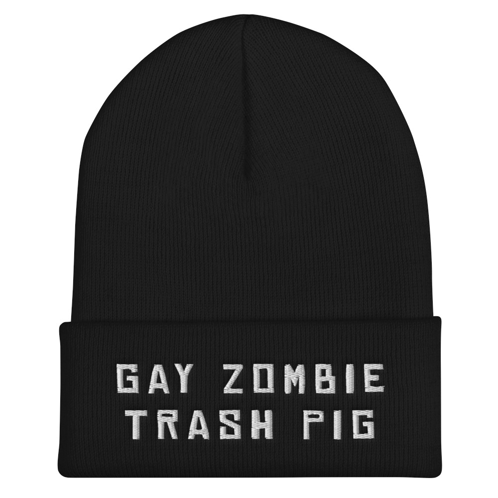 "Featured image for ""Gay Zombie Trash Pig - Cuffed Beanie"""