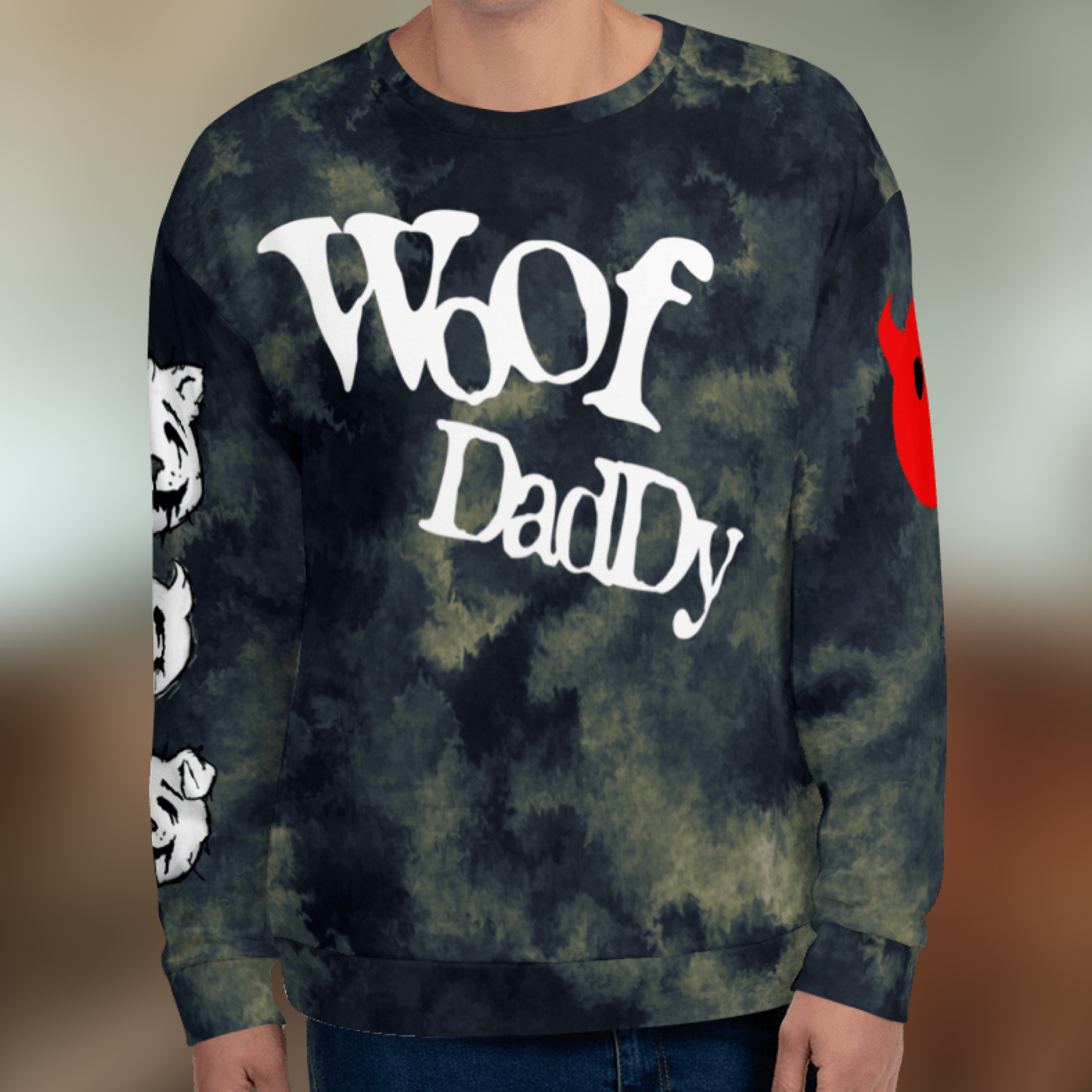 "Featured image for ""Woof Daddy Furry - All Over - Unisex Sweatshirt"""