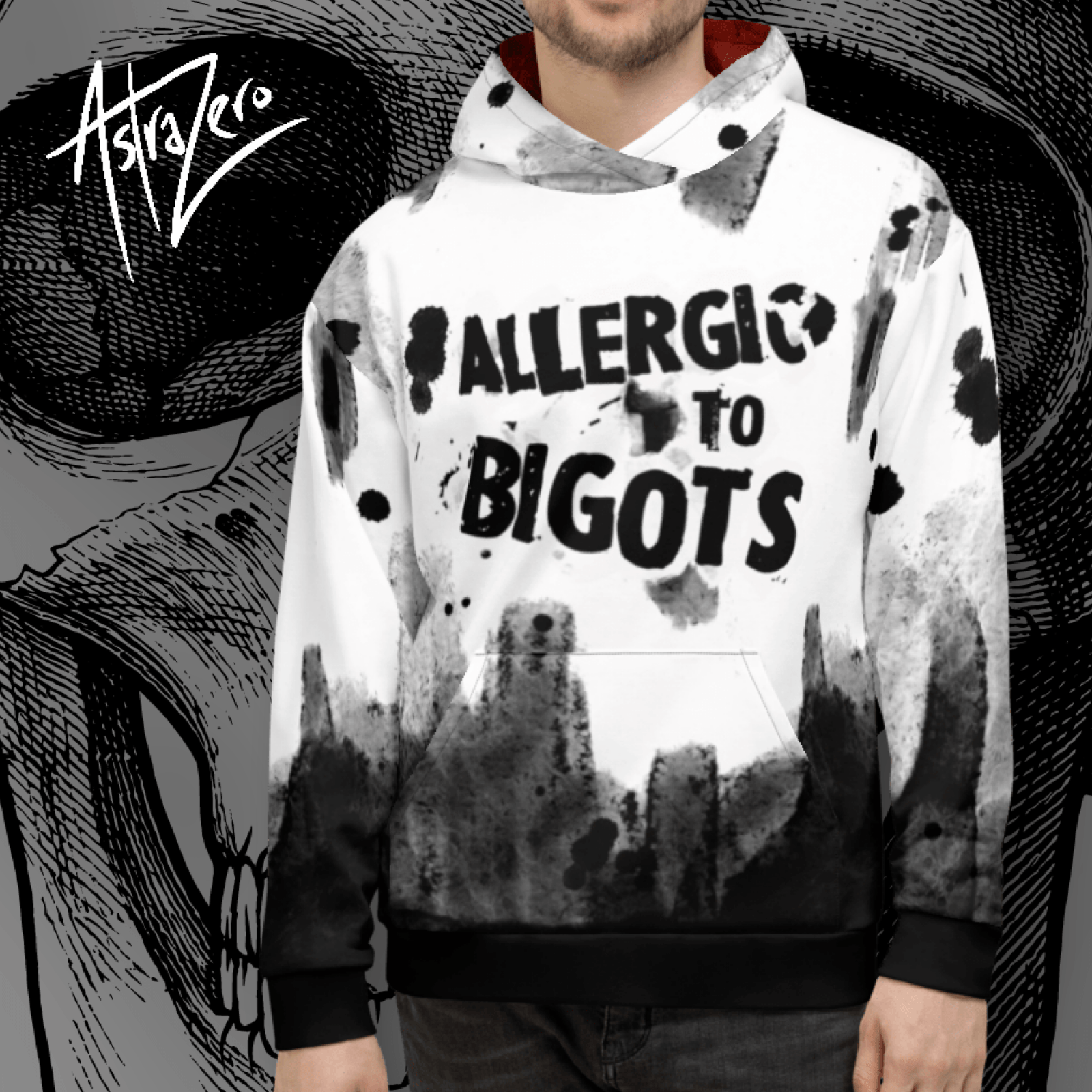 """Featured image for """"Allergic to Bigots Unisex Hoodie"""""""