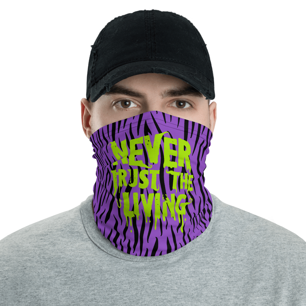 "Featured image for ""Never Trust the Living - purple - Neck gaiter"""