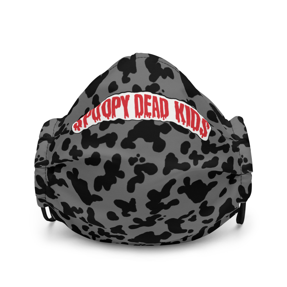 "Featured image for ""Spoopy Dead Kids ( Grey Cow Print ) Premium face mask"""