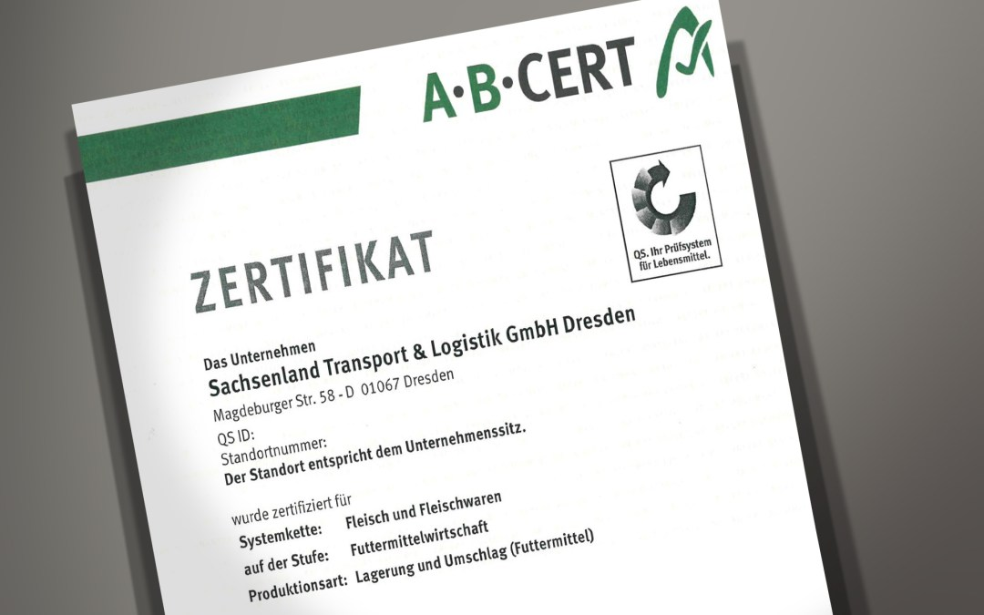 Nachgewiesene Qualität: QS-Zertifizierung für die Sachsenland Transport & Logistik GmbH