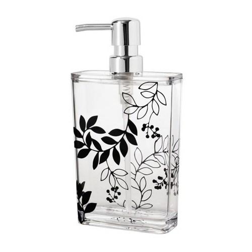 Bathroom Accessories, Clear Acrylic Bath&Lotion Organizer with Black Flower Style