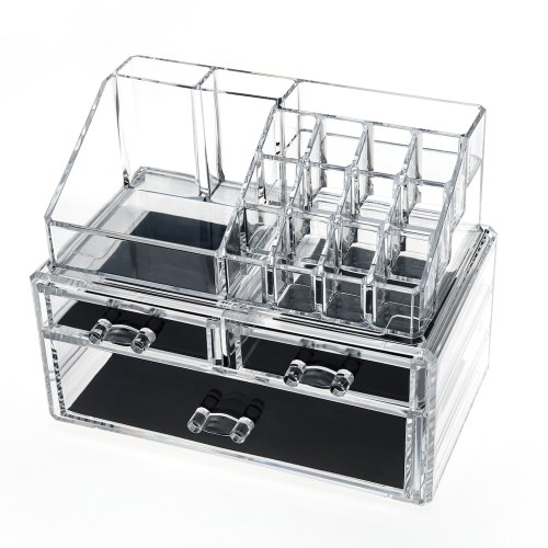 Acrylic Jewelry & Makeup Organizer Series(3 Drawers)