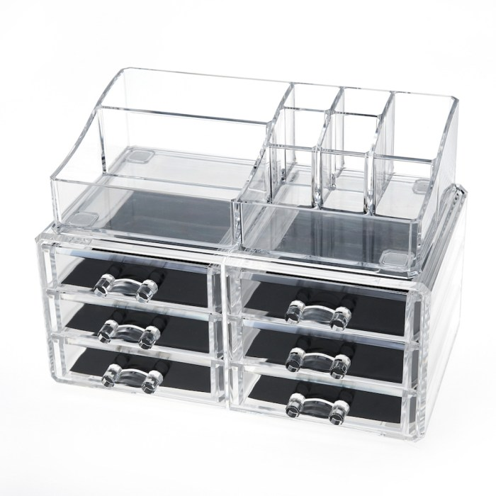 Acrylic Cosmetic Storage Makeup Organizer Series(6 Drawers)