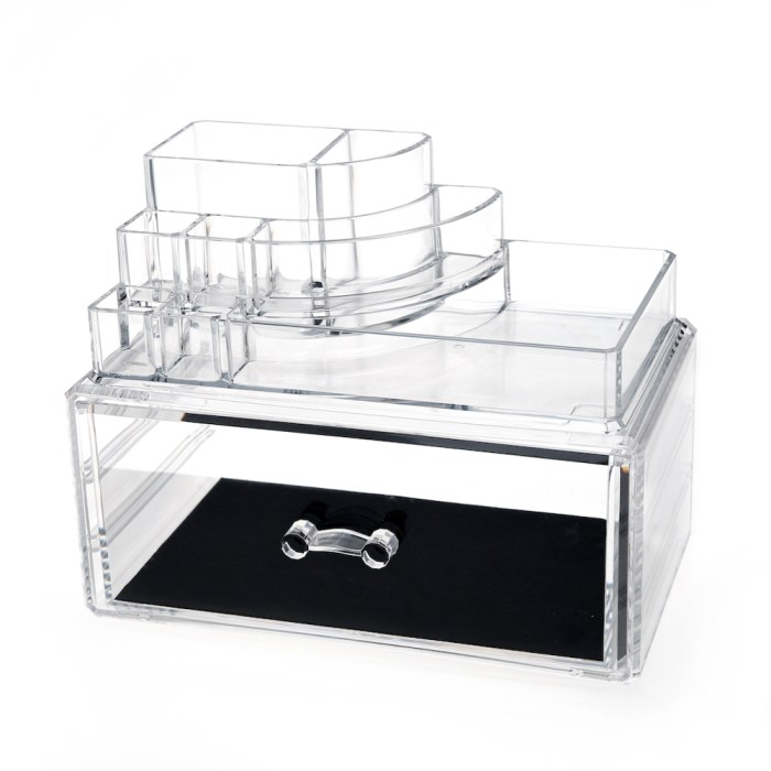 Desktop Clear Acrylic Lipstick and Cosmetic Organizer Series