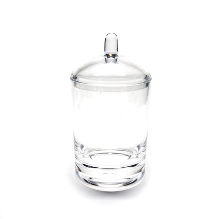 Smooth Cylindrical Bath Bottle With Lid Clear
