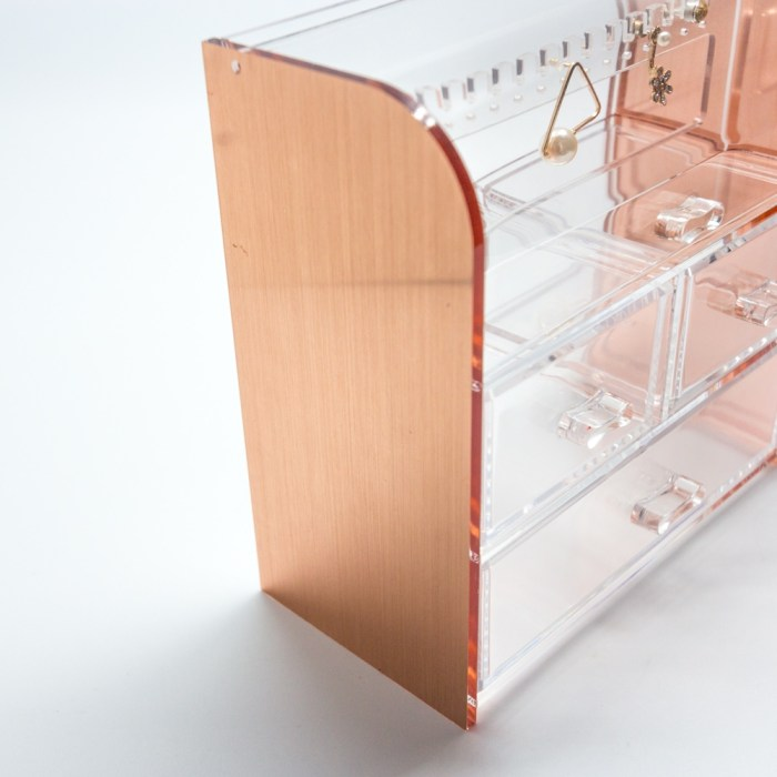 Rose Gold Acrylic Accessory and Jewelry Organizer